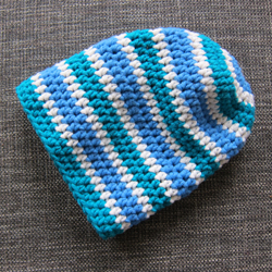 Häkelmütze Beanie blau - Little Walking Wolf