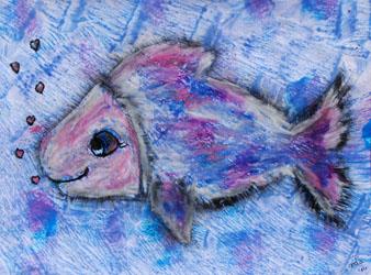 Kinderzimmerbild: Schillernder Fisch