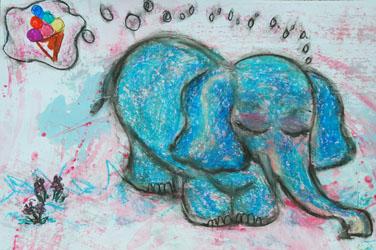 Kinderzimmerbild: Ich habe einen Traum - Little Walking Wolf