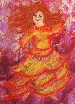 Kinderzimmerbild: Flamenco Tänzerin