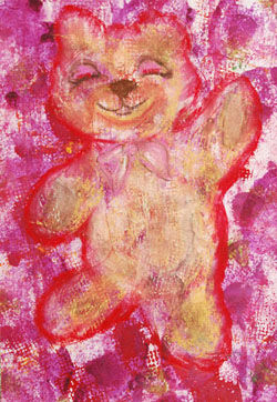 Kinderzimmerbild: Teddy - Little Walking Wolf