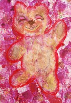 Kinderzimmerbild: Teddy - Little Walking Wolf