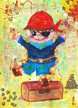 Kinderzimmerbild: Pirat - Little Walking Wolf